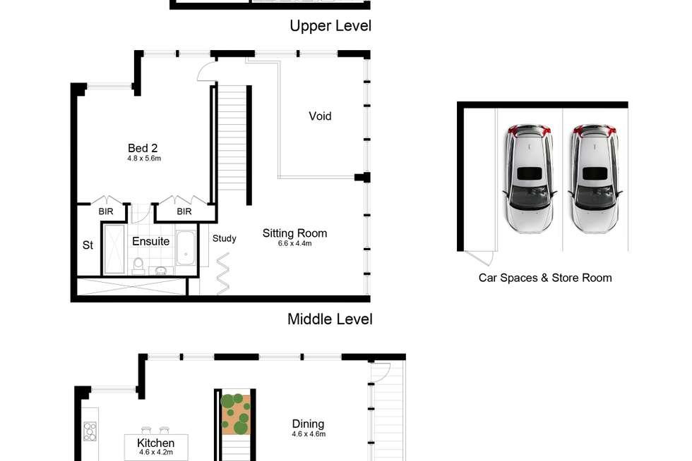 Floorplan of Homely apartment listing, 5406/101 Bathurst, Sydney NSW 2000