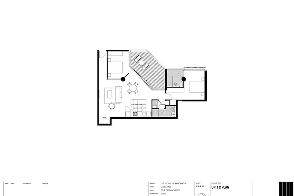 Floorplan of Homely apartment listing, 2/425 Bourke St, Surry Hills NSW 2010