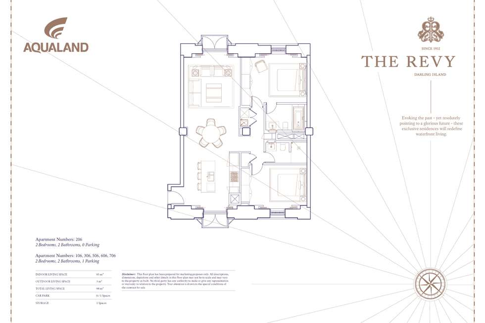 Floorplan of Homely apartment listing, 506/8 Darling Island Road, Pyrmont NSW 2009