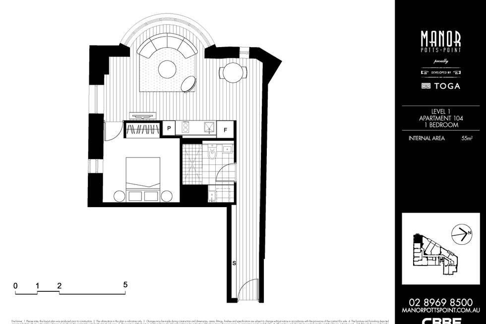 Floorplan of Homely apartment listing, 104/18 Bayswater Road, Potts Point NSW 2011