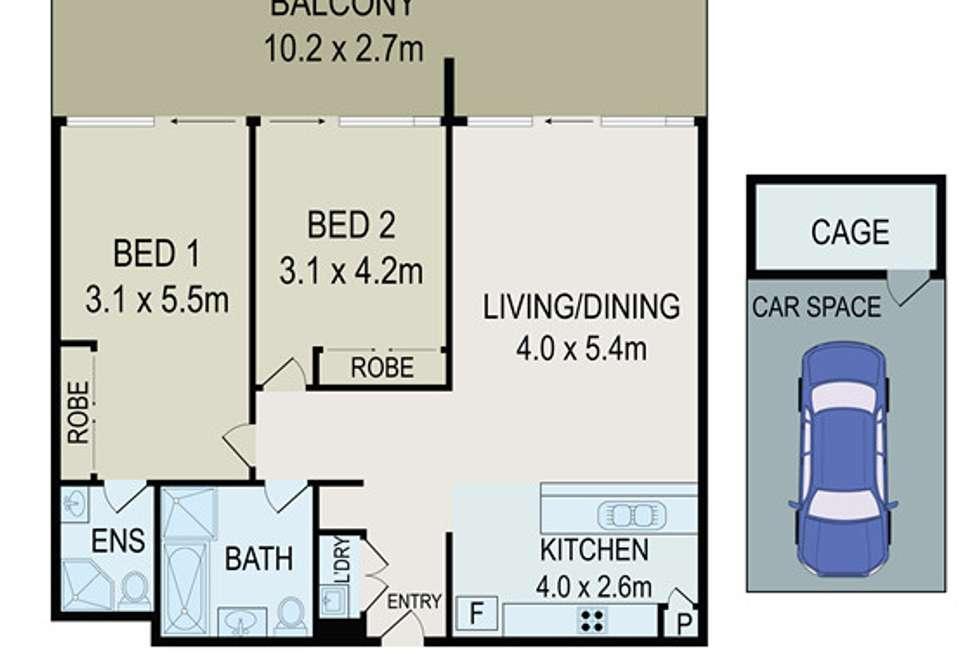 Floorplan of Homely apartment listing, 11/2 - 6 HALDON STREET, Lakemba NSW 2195