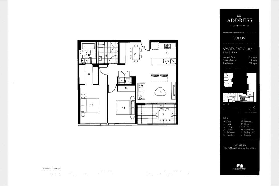Floorplan of Homely apartment listing, 502/21 Verona Drive, Wentworth Point NSW 2127