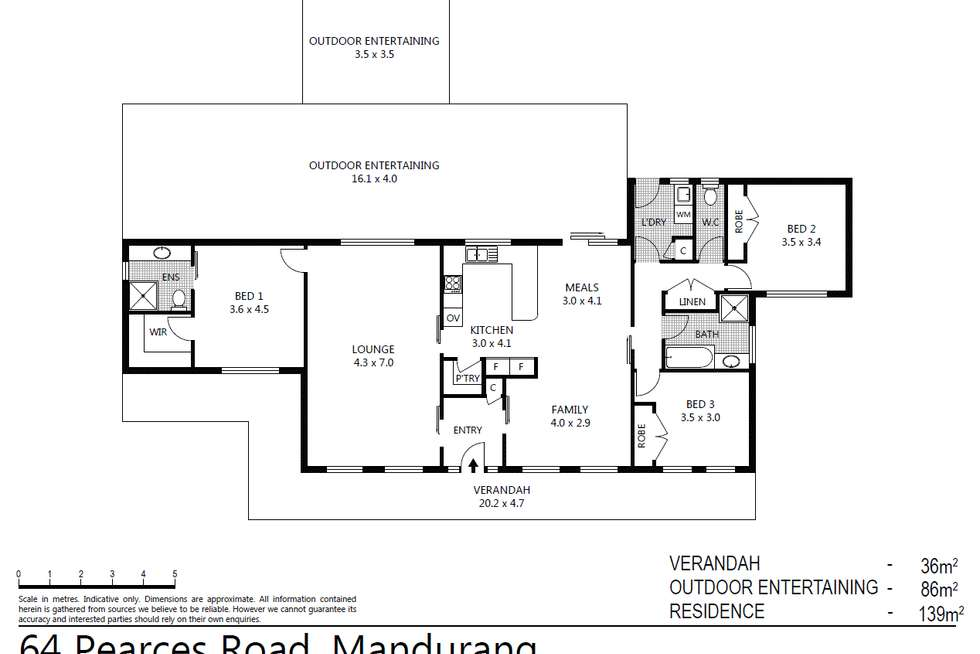 Floorplan of Homely house listing, 64 Pearces Road, Mandurang VIC 3551