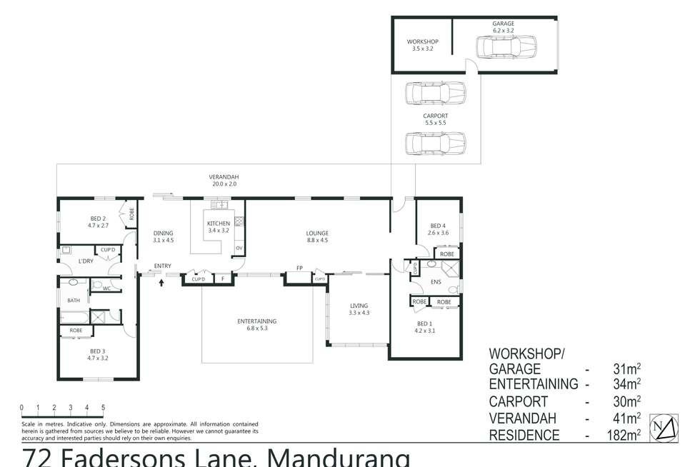Floorplan of Homely house listing, 72 Fadersons Lane, Mandurang VIC 3551