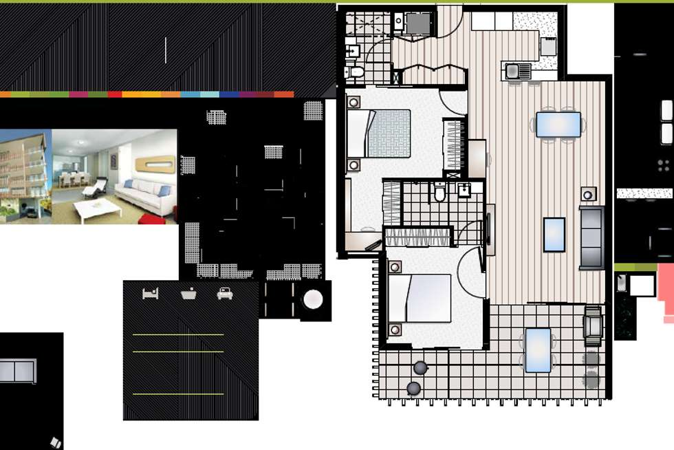 Floorplan of Homely apartment listing, 306/28-32 Cartwright St, Windsor QLD 4030