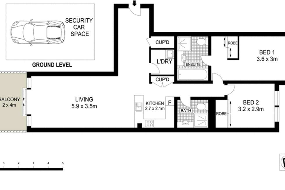 Floorplan of Homely apartment listing, 120/1 Brown Street, Ashfield NSW 2131