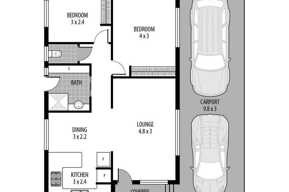 Floorplan of Homely unit listing, 19/437 Wards Hill Rd, Empire Bay NSW 2257