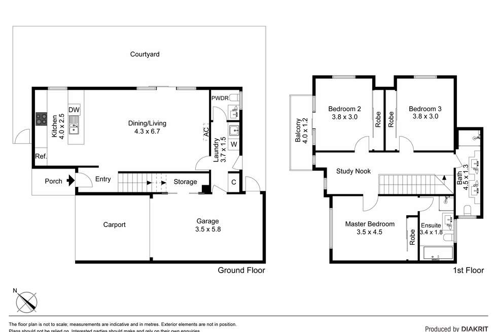 Floorplan of Homely townhouse listing, Unit 6/22-24 Military Road, Avondale Heights VIC 3034