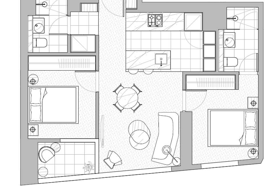 Floorplan of Homely apartment listing, 2412/170 Victoria Street, Carlton VIC 3053
