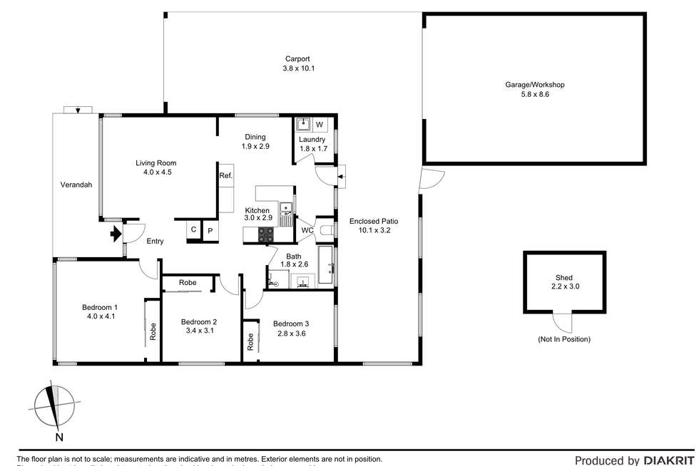 Floorplan of Homely house listing, 309 Milleara Road, Avondale Heights VIC 3034