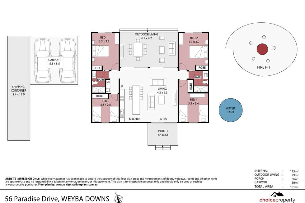 Floorplan of Homely house listing, 56 Paradise Dr, Weyba Downs QLD 4562