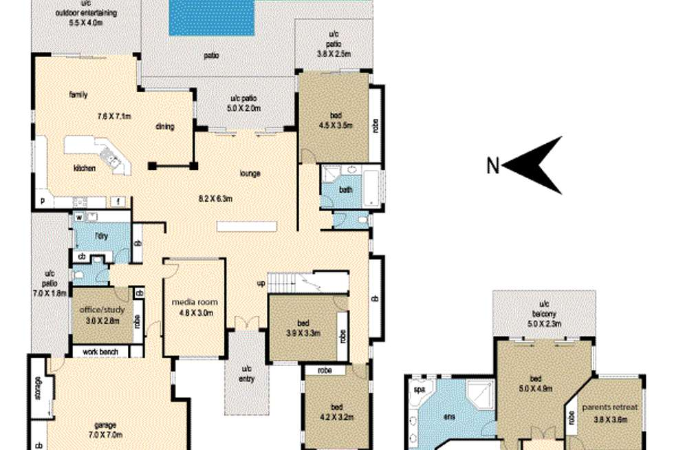 Floorplan of Homely house listing, 9 Mizzen Pl, Twin Waters QLD 4564