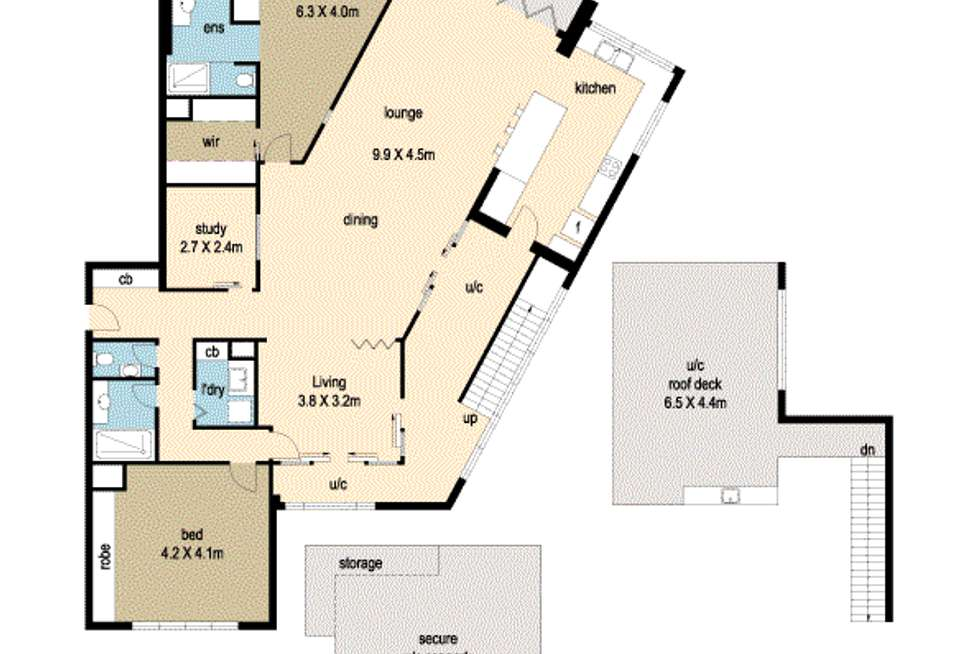 Floorplan of Homely apartment listing, Unit 6/20 Anchorage Cct, Twin Waters QLD 4564