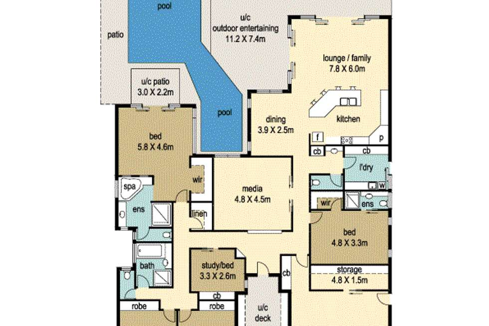 Floorplan of Homely house listing, 27 Hetherington Dr, Twin Waters QLD 4564