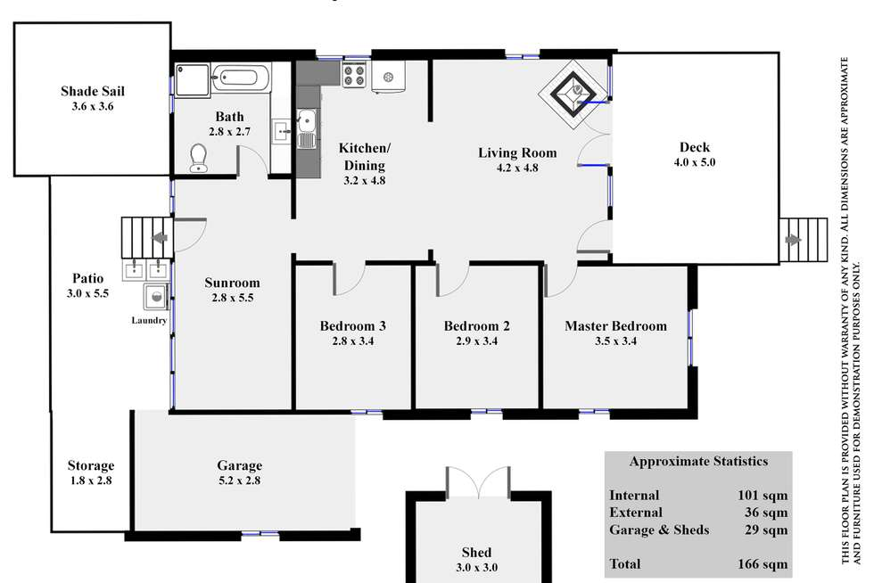Floorplan of Homely house listing, 3 Tyrrell Rd, Monkland QLD 4570