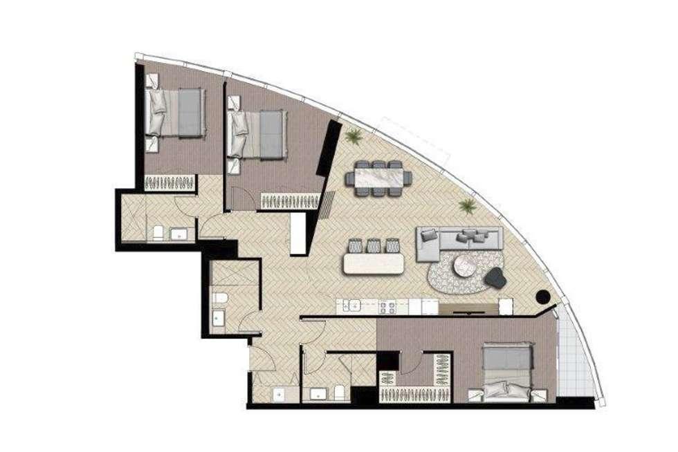 Floorplan of Homely apartment listing, 1101/11 Barrack Square, Perth WA 6000