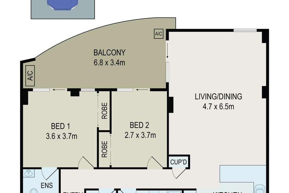 Floorplan of Homely apartment listing, Unit 41/2-8 Bridge St, Hurstville NSW 2220