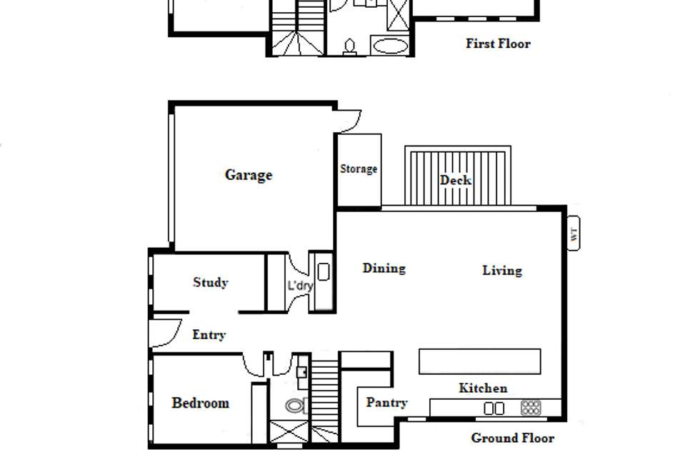 Floorplan of Homely house listing, 191 Ludstone St, Hampton VIC 3188