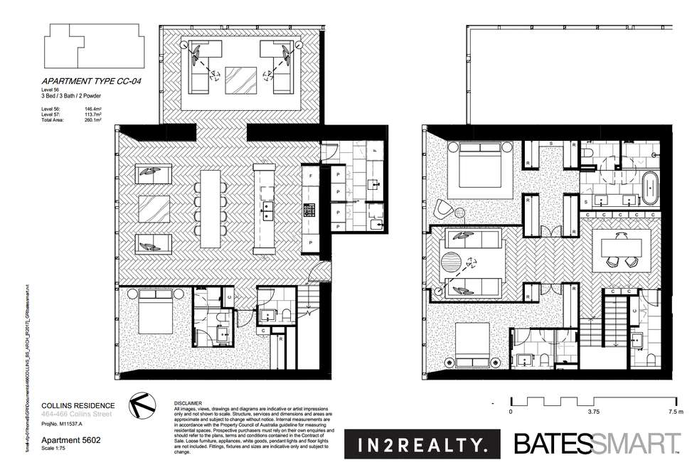 Floorplan of Homely apartment listing, Unit 5602/464 Collins St, Melbourne VIC 3000