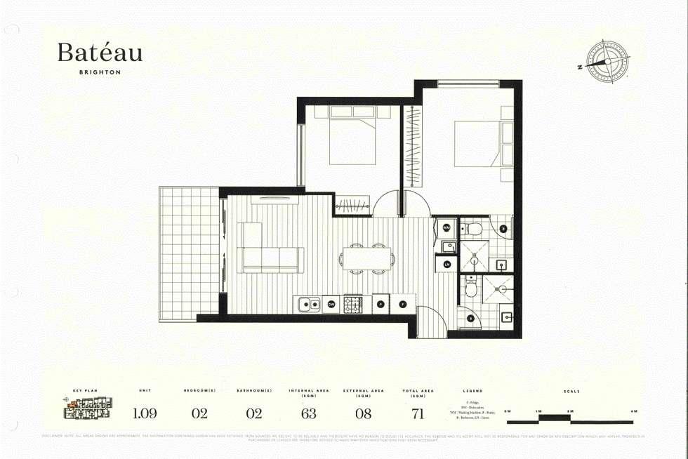Floorplan of Homely apartment listing, Unit 109/7 Cowra St, Brighton VIC 3186