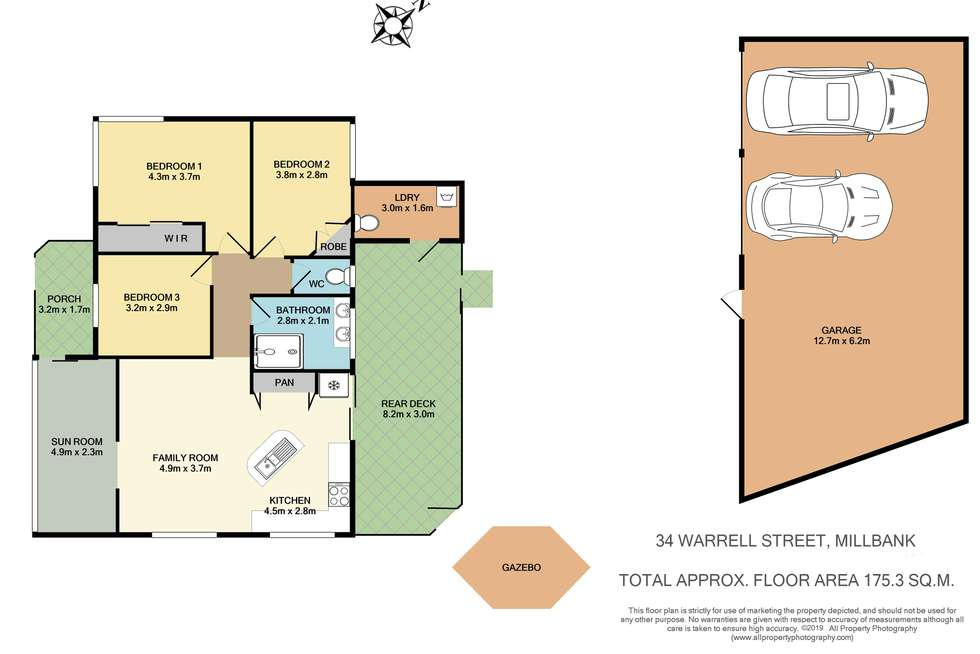 Floorplan of Homely house listing, 34 Warrell St, Millbank QLD 4670