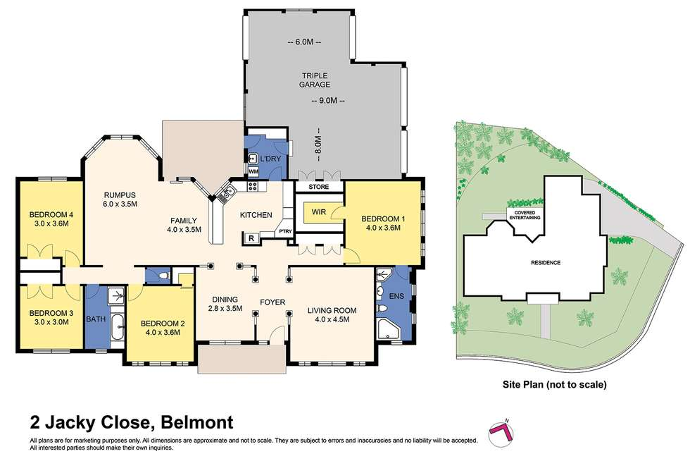 Floorplan of Homely house listing, 2 Jacky Cl, Belmont NSW 2280