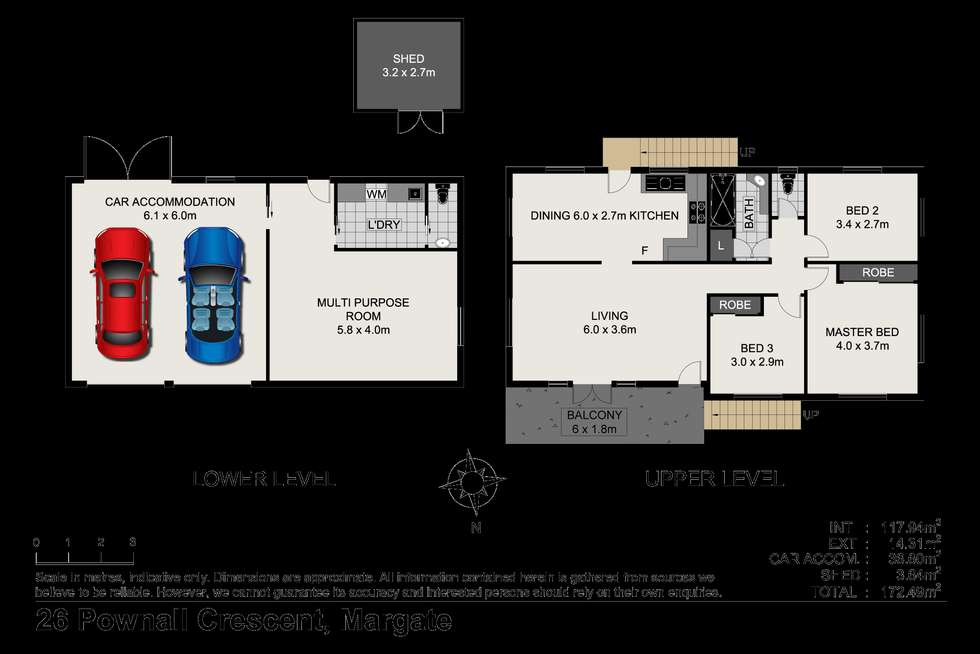 Floorplan of Homely house listing, 26 Pownall Cres, Margate QLD 4019