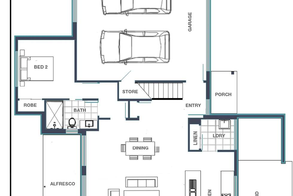 Floorplan of Homely house listing, 16b Keppel Way, Burpengary East QLD 4505