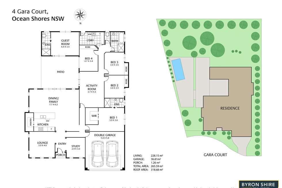 Floorplan of Homely house listing, 4 Gara Ct, Ocean Shores NSW 2483