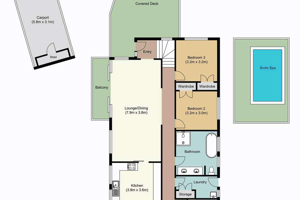 Floorplan of Homely house listing, 3 Timbarra Road, Westleigh NSW 2120