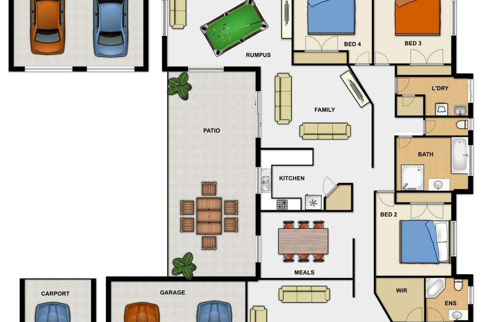 Floorplan of Homely house listing, 47 Chesterfield Cres, Kuraby QLD 4112