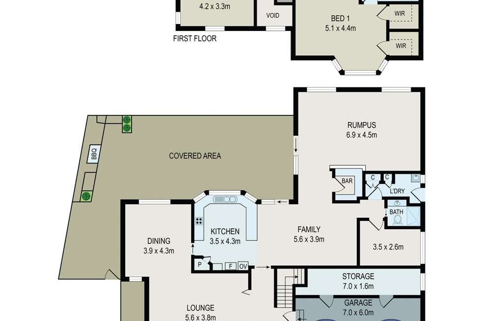 Floorplan of Homely house listing, 5 Cherie Pl, Bass Hill NSW 2197
