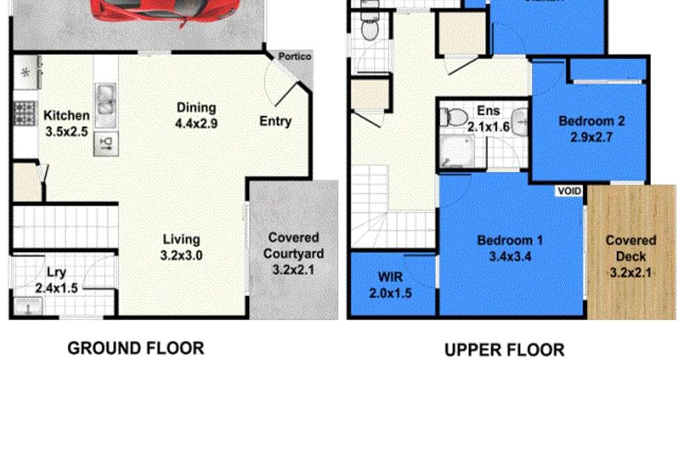 Floorplan of Homely townhouse listing, Unit 41/48-54 Fleet Dr, Kippa-ring QLD 4021