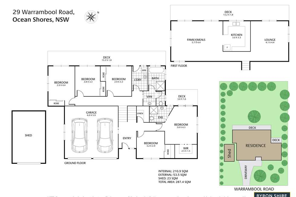 Floorplan of Homely house listing, 29 Warrambool Rd, Ocean Shores NSW 2483