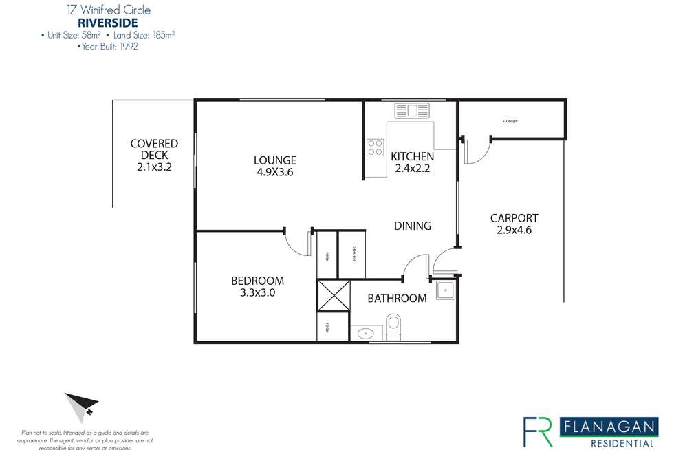 Floorplan of Homely unit listing, 17 Winifred Circle, Riverside TAS 7250