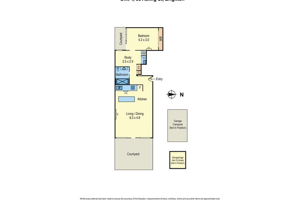Floorplan of Homely apartment listing, Unit 4/83 Asling St, Brighton VIC 3186