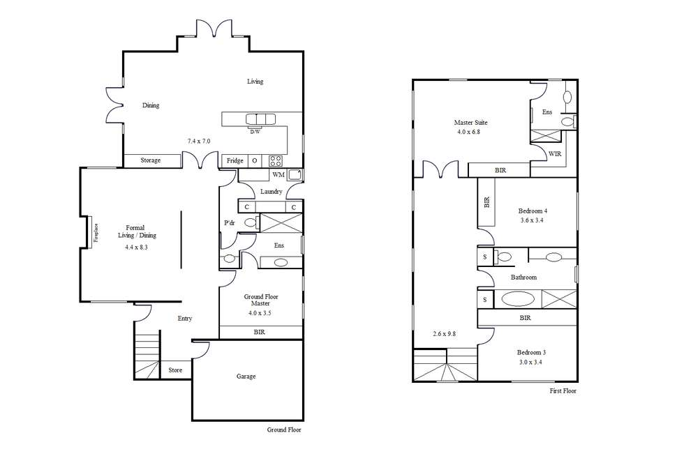 Floorplan of Homely house listing, 34 Burrows St, Brighton VIC 3186