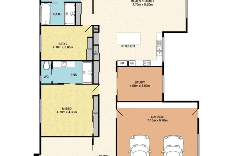Floorplan of Homely house listing, 5 Inwood Cres, Wodonga VIC 3690