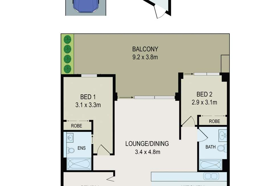 Floorplan of Homely apartment listing, Unit 402/57 Hill Rd, Wentworth Point NSW 2127