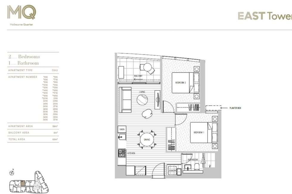 Floorplan of Homely apartment listing, 1616/628 Flinders Street, Docklands VIC 3008