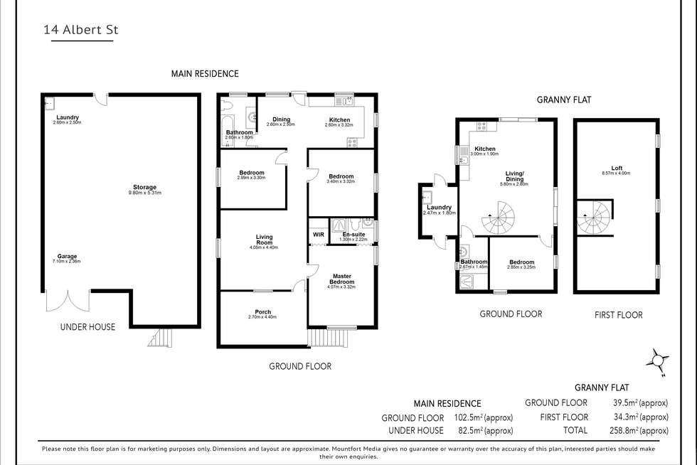 Floorplan of Homely house listing, 14 Albert St, Woolloongabba QLD 4102