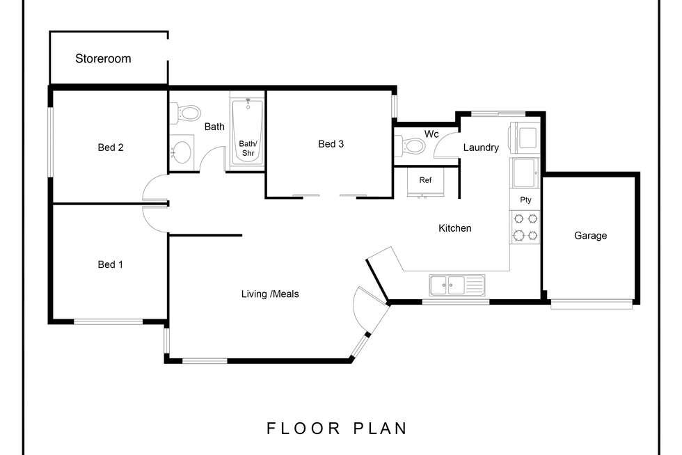 Floorplan of Homely house listing, 58 Welwyn Avenue, Manning WA 6152