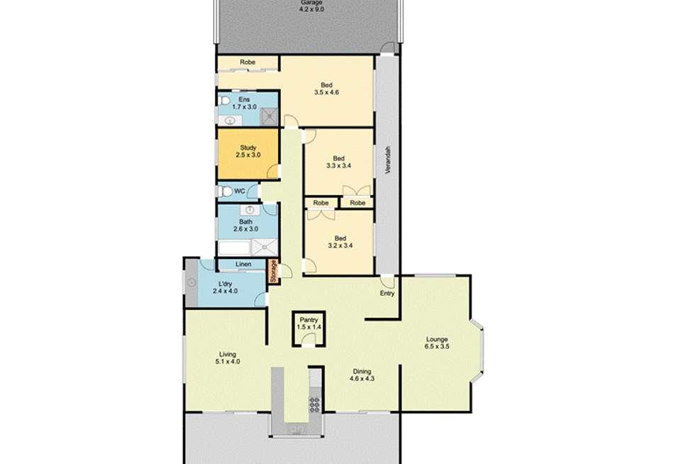 Floorplan of Homely house listing, 5 Skipton Ct, Wodonga VIC 3690