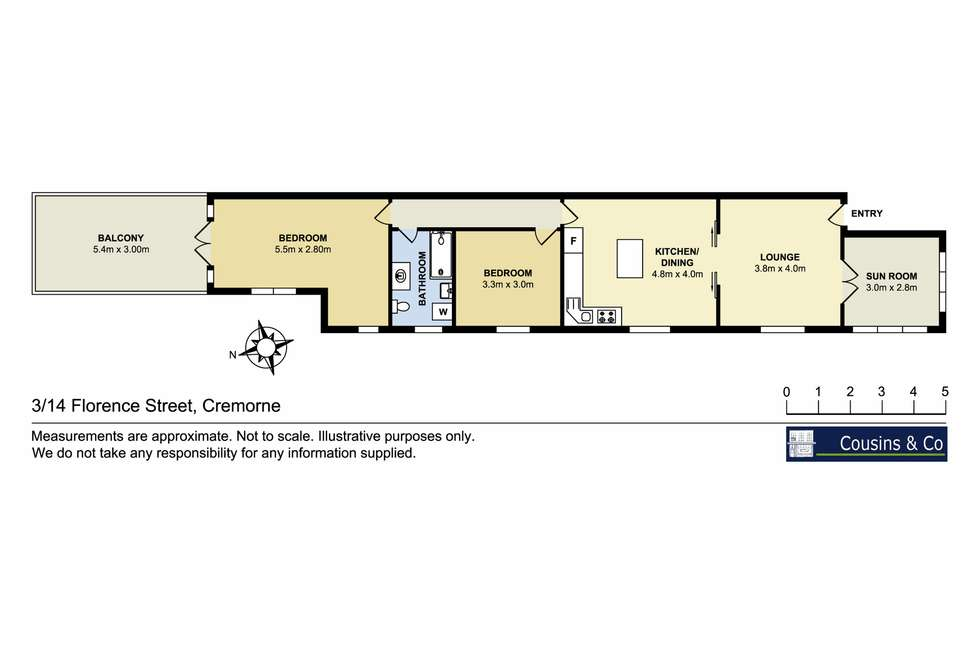 Floorplan of Homely apartment listing, 3/14 Florence Street, Cremorne NSW 2090