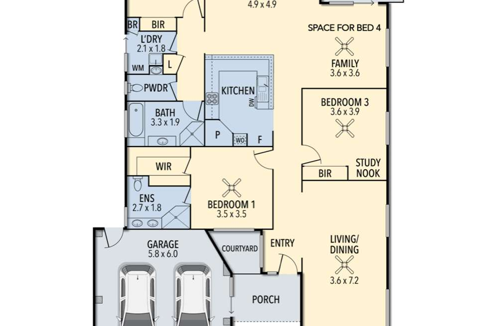 Floorplan of Homely house listing, 42 Robertson Ave, Margate QLD 4019
