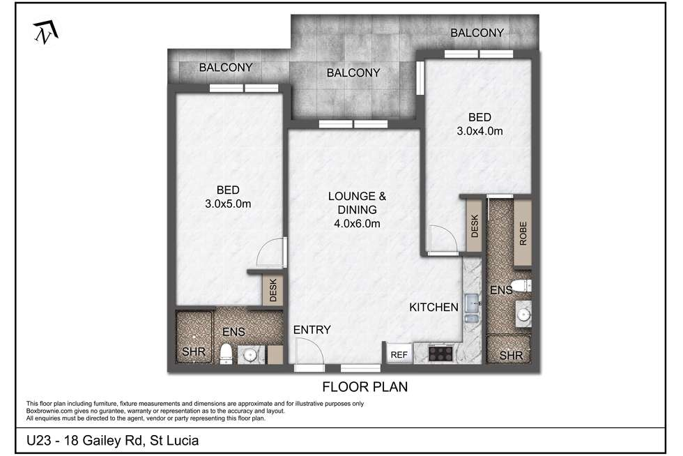 Floorplan of Homely unit listing, Unit 23/18 Gailey Rd, St Lucia QLD 4067
