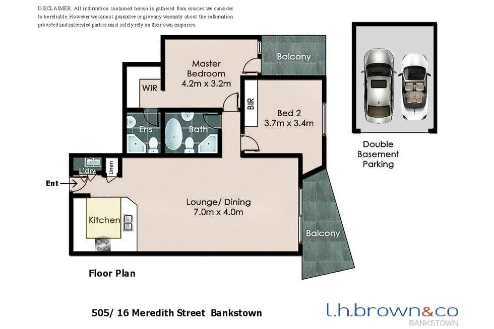 Floorplan of Homely apartment listing, Unit 505/16-20 Meredith St, Bankstown NSW 2200