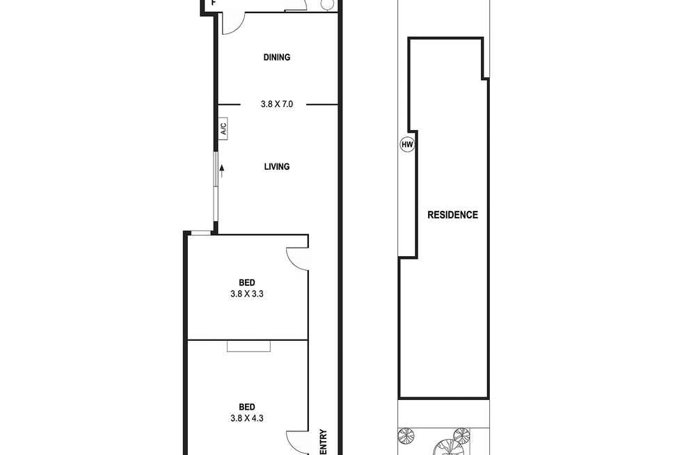 Floorplan of Homely house listing, 70 Richardson St, Albert Park VIC 3206