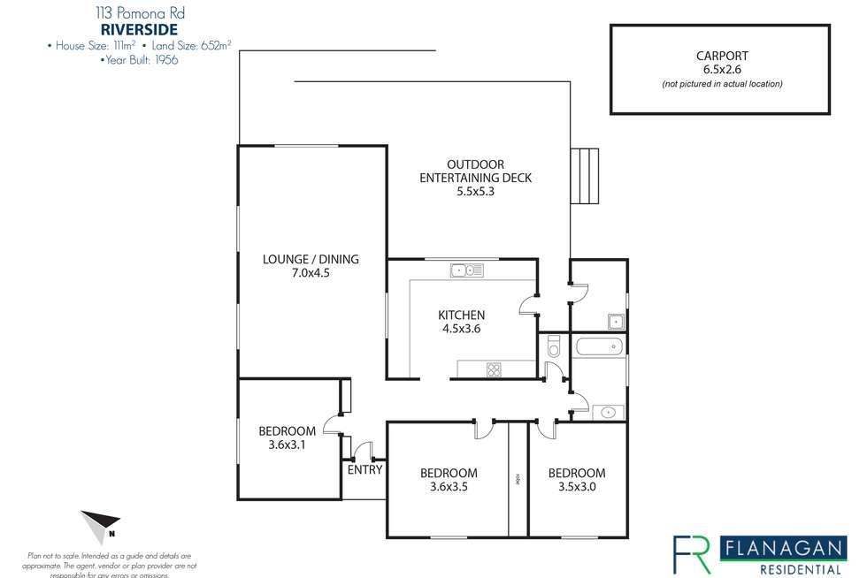 Floorplan of Homely house listing, 113 Pomona Rd N, Riverside TAS 7250