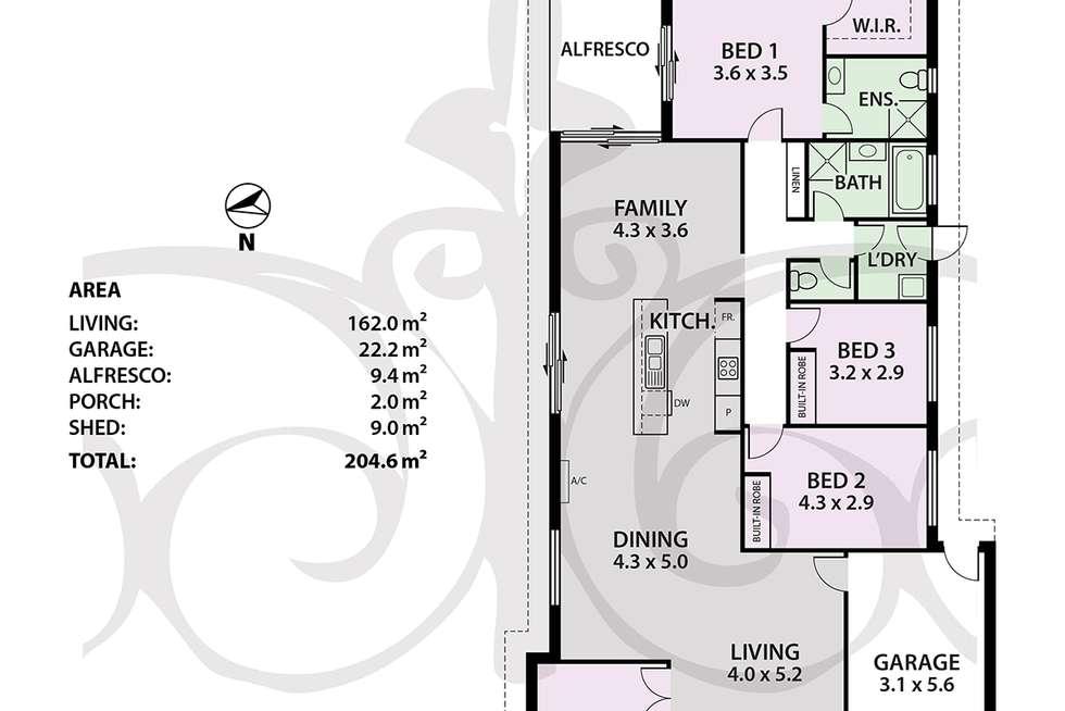 Floorplan of Homely house listing, 11 Weld Cres, Mount Barker SA 5251